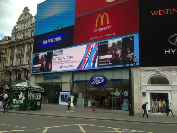 World Cup 2015- one picadilly